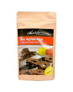 Bio Apfelchips Edelbitterschokolade 100g