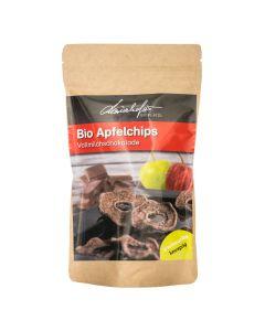 Bio Apfelchips Vollmilchschokolade 100g