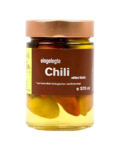 Bio Chili eingelegt mittlere Schärfe 370ml