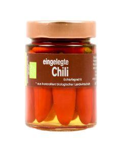 Bio Chili eingelegt Schärfegrad 6 192ml
