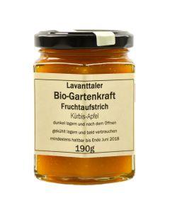 Lavanttaler Bio Gartenkraft Kürbis-Apfel Fruchtaufstrich 190g
