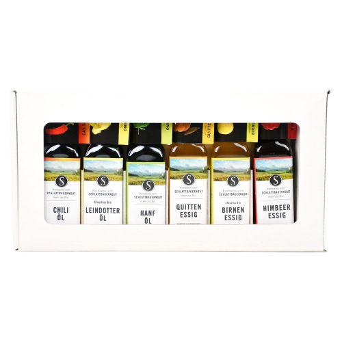 Bio Geschenkbox 3 Öle & 3 Essige 6x100ml